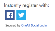 Image of the social media sign up buttons